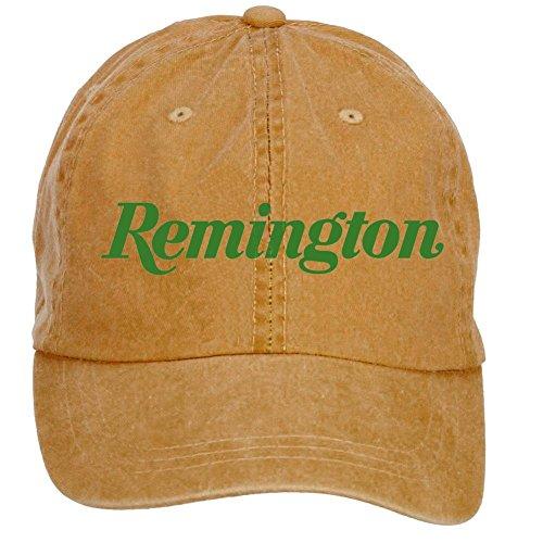 Nusajj Remington Logo Adult Unstructured 100% Cotton Sports Hats Design Brown One Size (Remington Ball Cap)