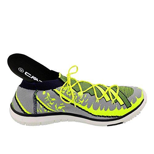 CMP Zapatillas de Tela Para Hombre, Color Gris, Talla 42