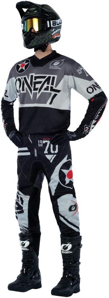 O/'Neal Element Warhawk Mens MX Offroad Pants Black//Gray