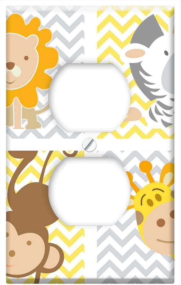Frame Animals Baby Child Green Frame Single-Gang Blank Wall Plate Cover