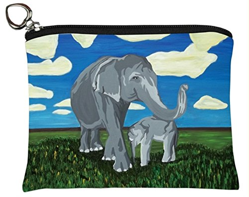 (Elephants Change Purse, Elephants Coin Purse - From My Original Painting, Gentle)