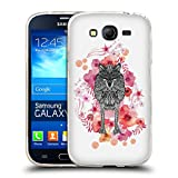 Official Monika Strigel Wolf Animals And Flowers Soft Gel Case for Samsung Galaxy Grand Neo