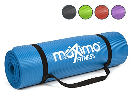 Maximo Exercise Mat NBR Fitness Mat – Multi Purpose – 183 x 60 x 1.2 centimetres – Pilates, Sit-Ups, Planks, Stretching…