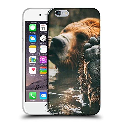 """Just Phone Cases Coque de Protection TPU Silicone Case pour // V00004088 L'ours brun bénéficie du bain // Apple iPhone 6 6S 6G PLUS 5.5"""""""