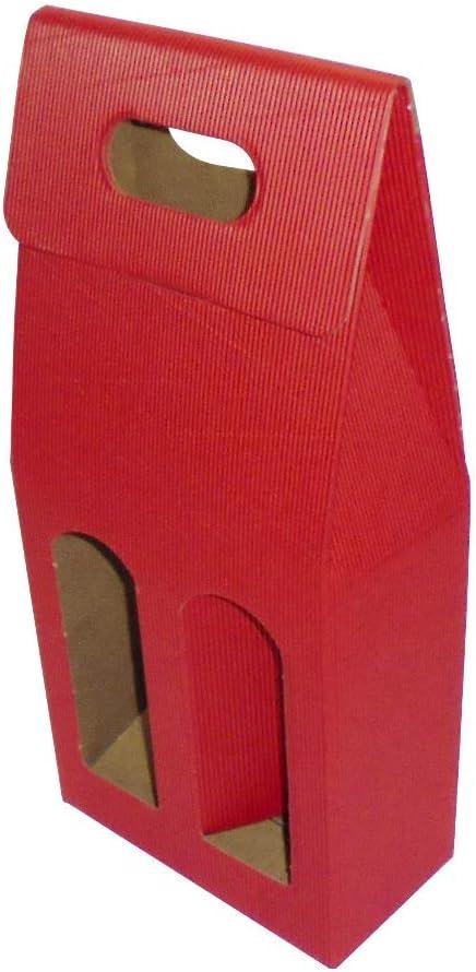 IMBALLAGGI ALIMENTARI envases alimentarios Unidades 20 Caja roja Funda (2 Botellas) Sobre de cartón Ondulado Red Box for Bottles de Papel: Amazon.es: Hogar