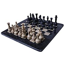 Handmade Black and Coral Marble two player Chess Game Marble Chess Set Chessboard