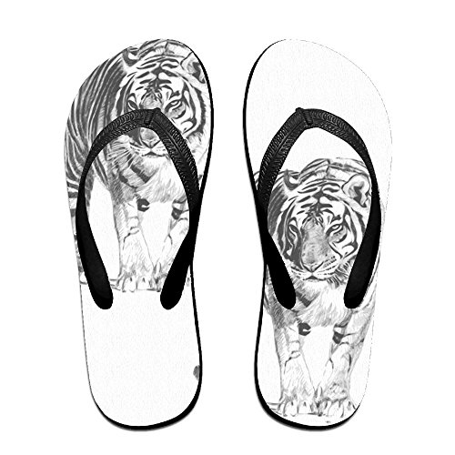 f31169e9d236 low-cost QR FUNK Unisex Bengal Tiger Summer Comfortable Flip Flops Beach  Slippers