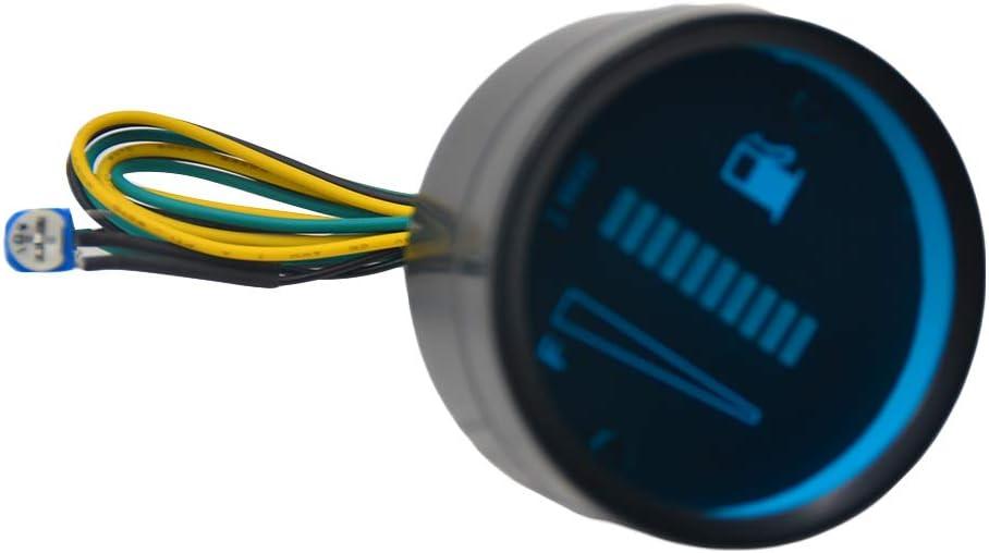 beIilan Auto-Tankanzeige LED-Tankpegelmesser Motorrad Kraftstoff Meter-Messger/ät-Sensor 12V Motorrad Automobil-Aluminium-Legierung Car Styling