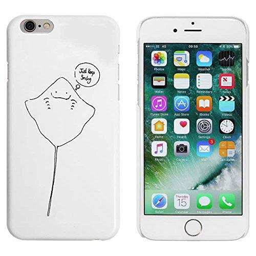 Blanc 'Pastenague Souriant' étui / housse pour iPhone 6 & 6s (MC00037686)