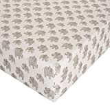 Glenna Jean Elephant Herd - Natural Crib Sheet Fitted 28''x52''x8'' Nursery Standard