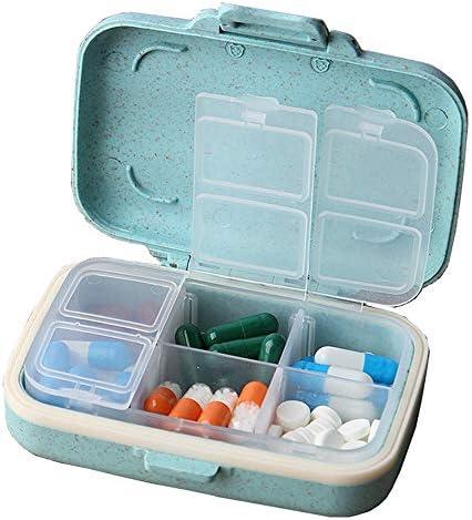 Caja de la píldora, Fatetec Pastillero portable organizador de la ...