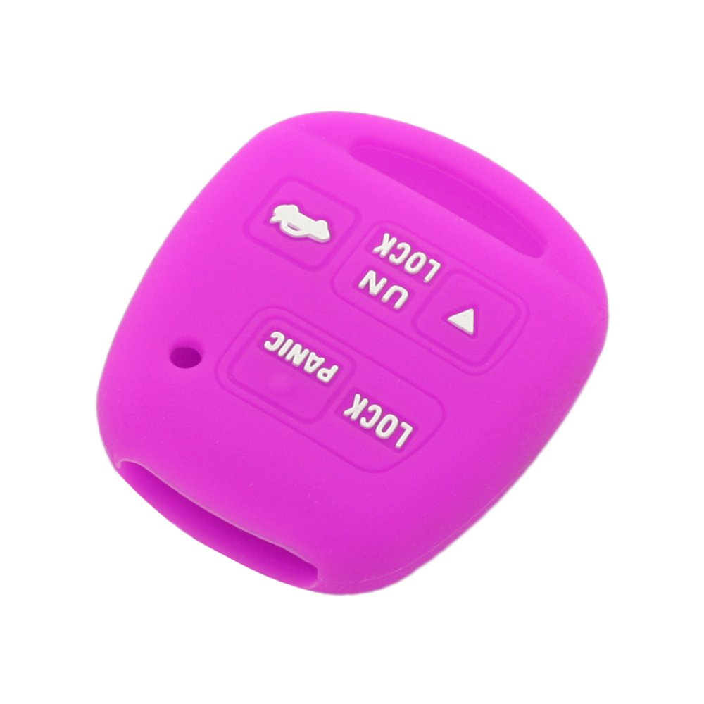 SEGADEN Silicone Cover Protector Case Skin Jacket fit for TOYOTA LEXUS 3 Button Remote Key Fob CV2423 White