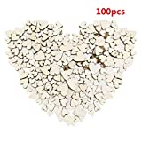CAHEDSD Multi DIY Christmas Snowflakes Deer&Tree Wooden Pendants Ornaments Christmas Party Decorations Tree Ornaments Kids Gifts 100pcs heart1