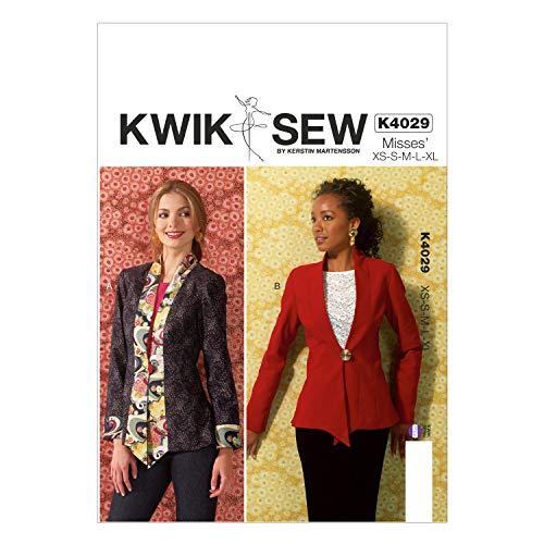KWIK-SEW PATTERNS K4029 Misses' Jackets Sewing Template