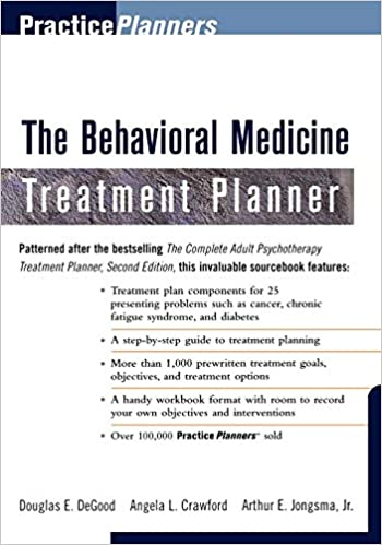 The Behavioral Medicine Treatment Planner 9780471319238 Medicine