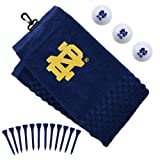 NCAA Notre Dame Fighting Irish Embroidered Golf Towel 3 Golf Ball & Golf Tee Set