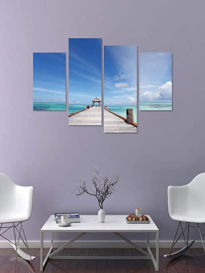4pcs set 3D blu paesaggio mediterraneo combinazione adesivi murali ...