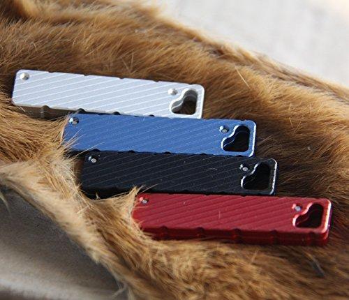 1pcs EDC Multi Pocket Tools Tactical SlimCut Utility Knife Lock keytool (blue)