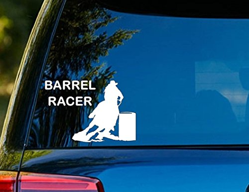 Barrel Racer Spurs (T1211 Barrel Racer Horse Decal Sticker - 4.00