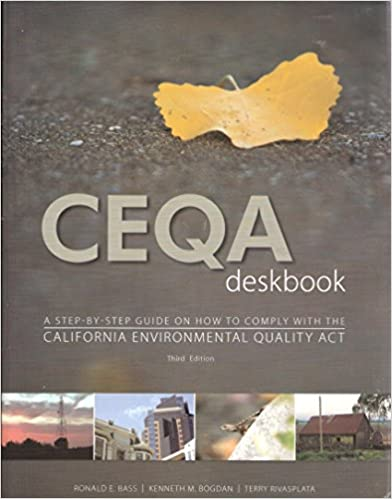 Book CEQA Deskbok A Step-By-Step Guide on How to Comply with CEQA