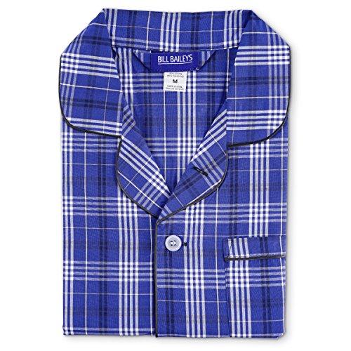 Bill Baileys Sleepwear Mens Broadcloth Woven Nightshirt Sleep Shirt (Small, (Bailey Mens Clothing)