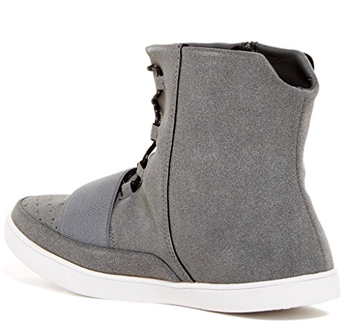 Giraldi dotan Mens Fashion All Vegan Materials High Top Sneakers Grey ABpXcml