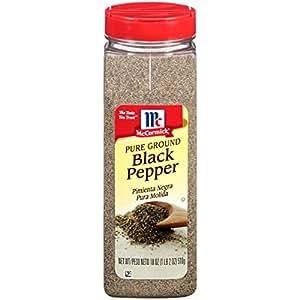 McCormick Pure Ground Black Pepper, 18 oz