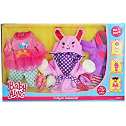 "Baby Alive Pretty Lil Fashion Clothing Set – Features 3 Outfits, Makes Perfect Accessories for your 12-14"" Dolls"