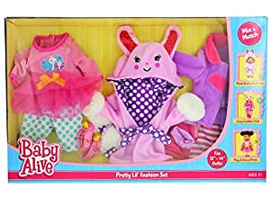 Amazon Com Baby Alive Pretty Lil Fashion Clothing Set Features 3