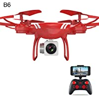 Gentman KY101 2.4GHz RC 6-axis Gyroscope Quadcopter FPV Altitude Hold with Camera Drone Headless Mode (Red:Altitude Hold WIFI)