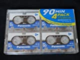4x4 Packs Panasonic MC90 - 90 Minute Micro Mini Cassette Tapes.