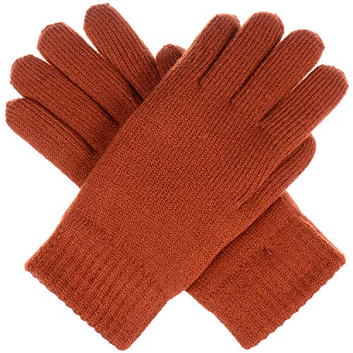 BYOS Winter Women's Toasty Warm Plush Fleece Lined Knit Gloves in Solid & Glitter