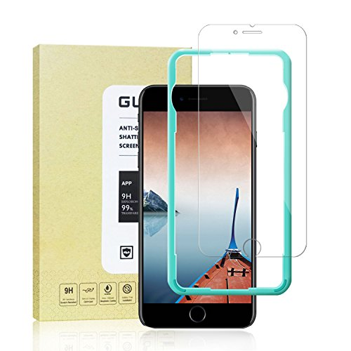 iPhone 8,7,6S,6 Screen Protector [3 Pack],parikaras Tempered Glass Screen Protector [Easy Installation Guide Frame ] for Apple iPhone 8,7,6S,6.