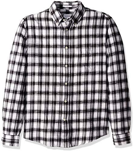 ilmainen toimitus suorituskykyiset urheiluvaatteet klassiset kengät GANT Men's The Downtown Twill Flannel Slim Fit Shirt, Black ...