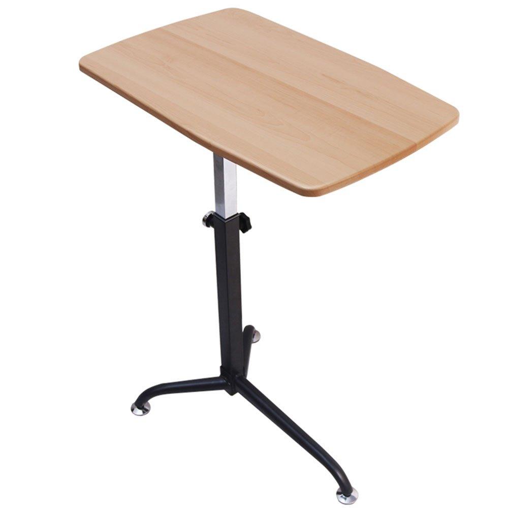 XIAOLIN 調節可能なラップトップテーブル、持ち上げノートブックスタンド取り外し可能な携帯用立てベッドデスクシンプルなソファの朝食トレイレイジーポータブル調節可能なスタンド ( 色 : ベージュ ) B07BK3J5KN ベージュ ベージュ