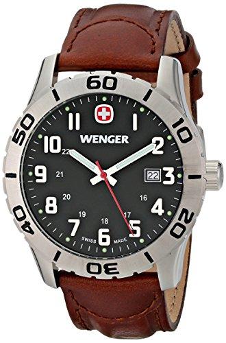 Wenger Men's 0741.103 Analog Display Swiss Quartz Brown Watch
