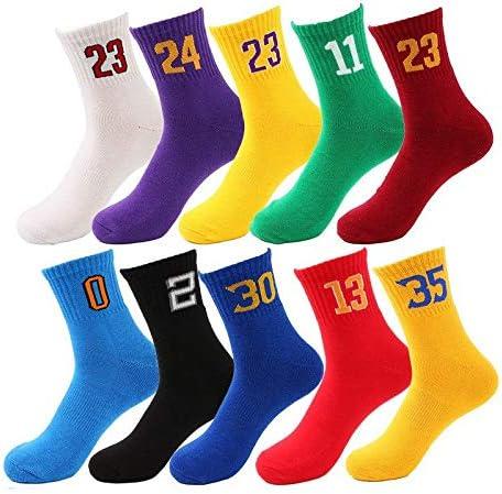 HUBINGRONG 2 pares de calcetines de algodón de los hombres del equipo Calcetines digitales Deportes Calcetines de algodón tubo de toallas de algodón inferior medias de los calcetines de los hombres ca: