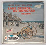View Master Lake George - Adirondack Region Upper New York State Set of 3 Vintage 1960s Reels Unopened/Unused Sealed Packet #A-664 Viewmaster