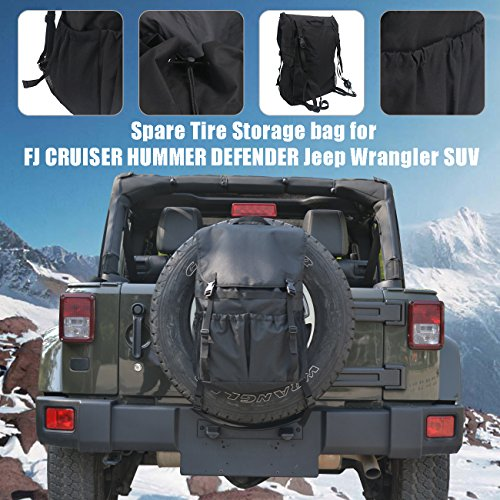 Backpack Storage bag for SUV, Organiser Foldable Boot Organizer Box for Spare Tire 30