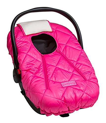 Cover Cozy Baby - Cozy Cover Premium Infant Car Seat Cover (Pink) with Polar Fleece - The Industry Leading Infant Carrier Cover Trusted by Over 5.5 Million Moms for Keeping Your Baby Warm
