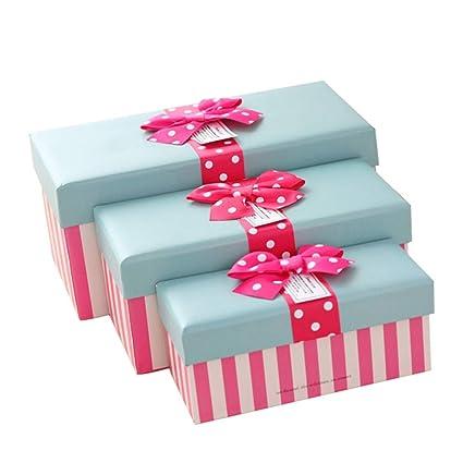HAPPY TREE Cajas de Regalo para Regalos Dulces de Navidad Caja de Regalo 3 Piezas,