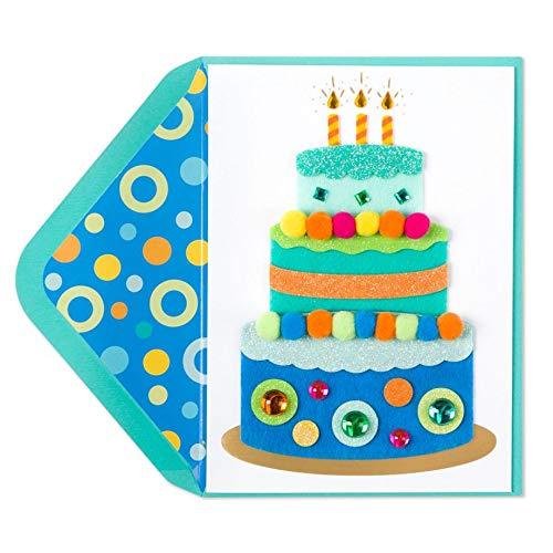 Felt Layered Cake Birthday Card