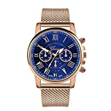 Clearance On Sale Watches,FRana Wrist Watch Retro Leather Band Luxury Fashion Stainless Steel Luxury Analog Quartz Watch