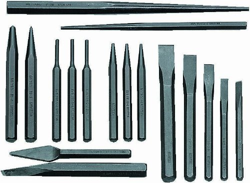 Williams PC-17 17-Piece Punch and Chisel Set