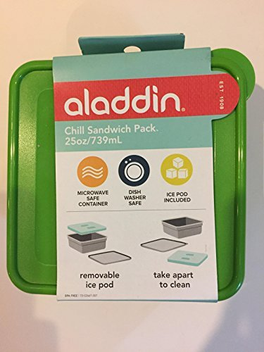 Aladdin Chill Sandwich Pack 25 oz BPA Free Ice Pack Microwave/Dishwasher Safe
