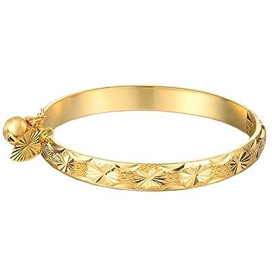 Amazon UM Jewelry Gold Plated New Born Baby Charm Bracelets