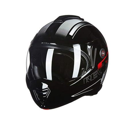 YSH Casco De La Motocicleta De Seguridad Flip Up Moto Casco Moto Cara Completa con Casco