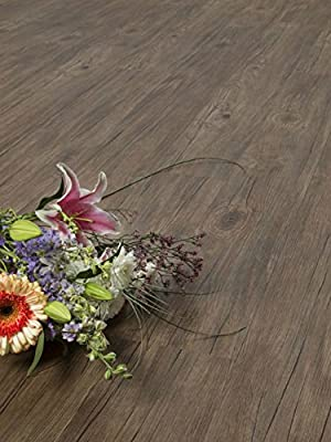 Baril Vinyl Flooring | Durable, Water-Resistant | Easy Install, Click-Lock | Plank SAMPLE by GoHaus