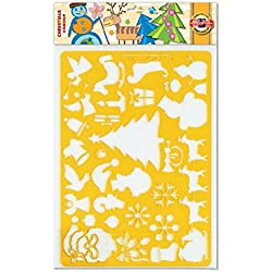 KOH-I-NOOR Drawing Template Christmas - Transparent Orange