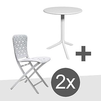 Juego de muebles de jardín Nardi Zac de 3 piezas 2 x Silla plegable ...